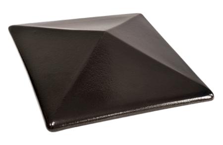Колпак на забор Ониксовый черный (17) Onyx black