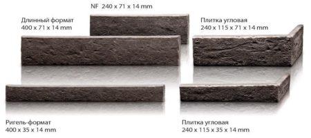 Ригельный формат клинкерной плитки