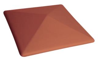 Колпак на забор Рубиновый красный (01) Ruby-red