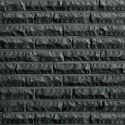 Клинкерный кирпич QUEBEC schwarz-nuanciert, bossiert